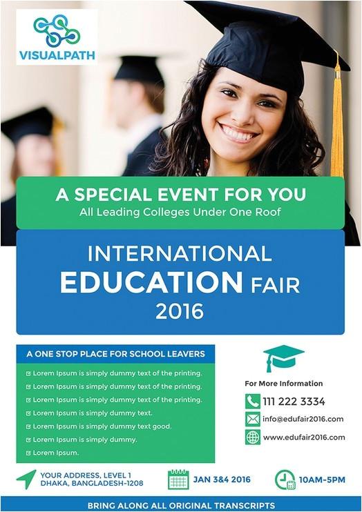 48898 education flyer template psd