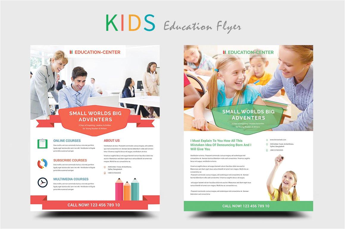 296612 kids educationschool flyers