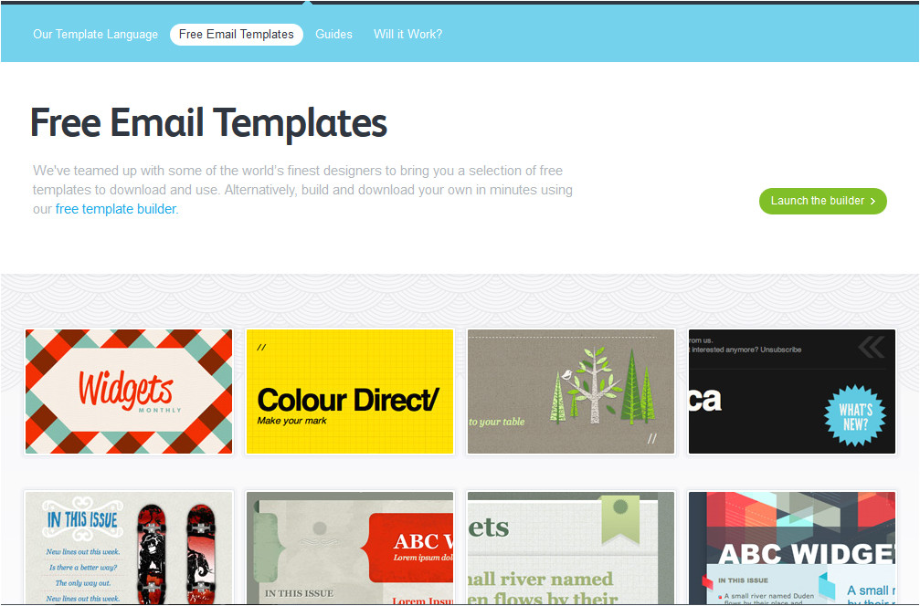 5 best free email marketing templates