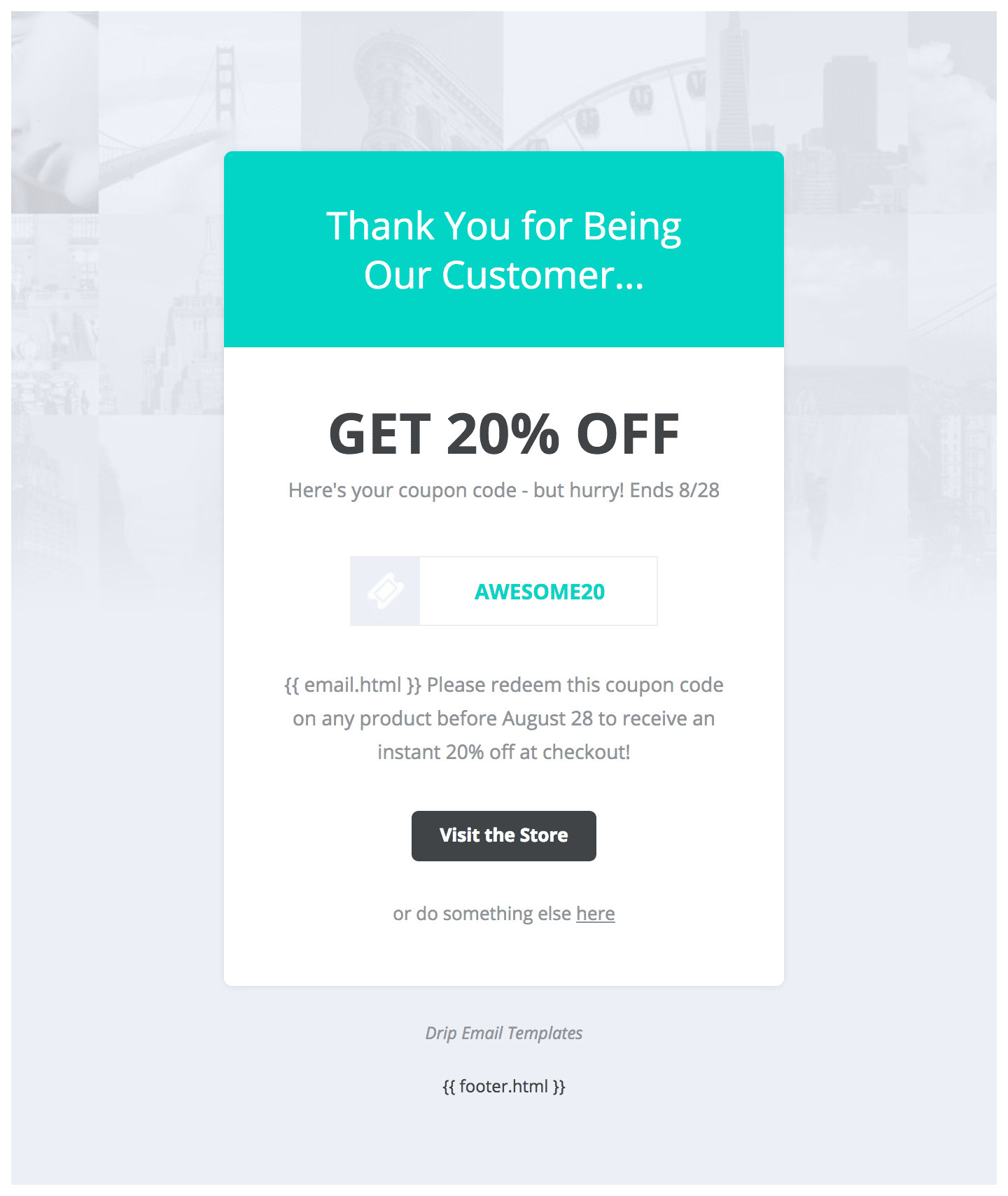 Free Email Coupon Template Drip Email Templates Easy to Import Drip Email Templates