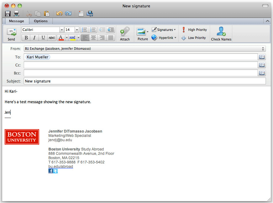 Free Email Signature Templates for Mac Mail Email Signature Bu Study Abroad