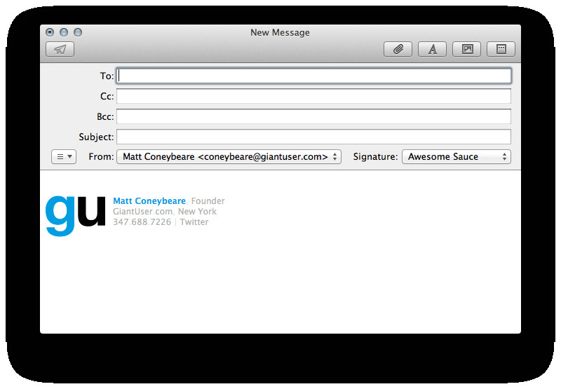 make an html signature in apple mail for os x 10 9