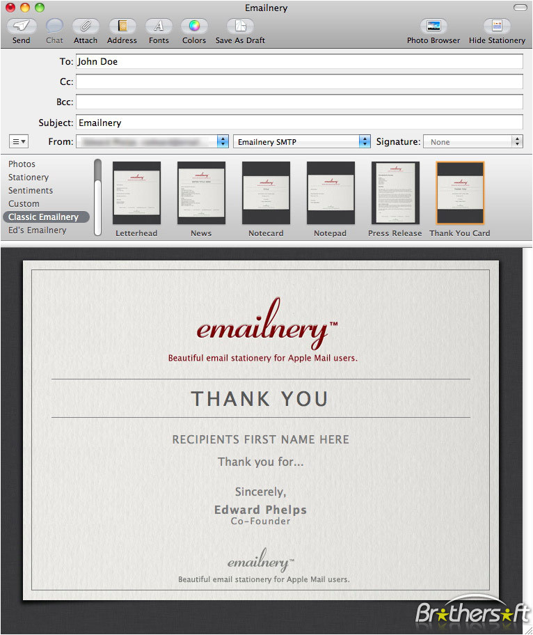emailnery classic letterhead