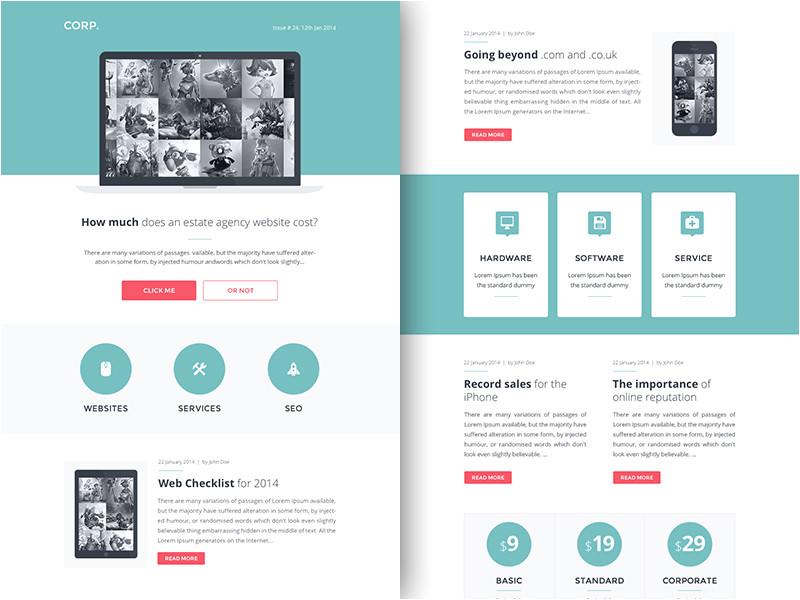 2168 rocketway email template designs sketch freebie resource