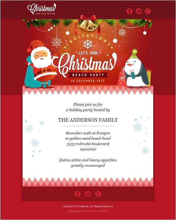 22 inspirational christmas html email templates 2