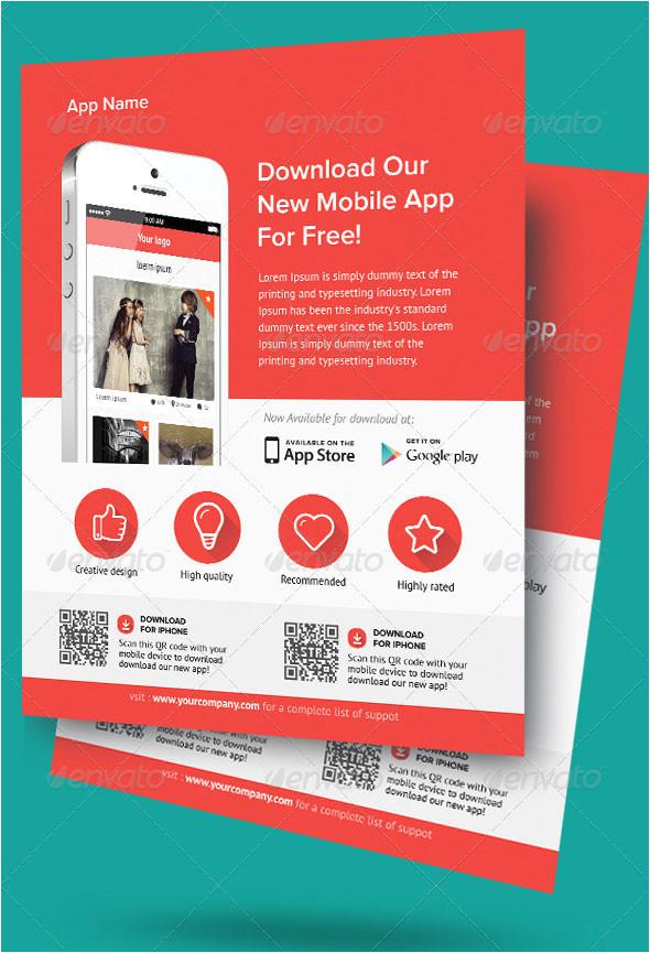 30 effective web mobile apps flyer psd templates
