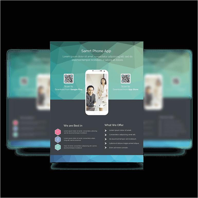 free psd app promotion flyer templates