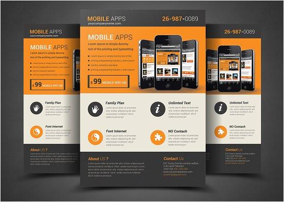 331583 mobile app flyer template