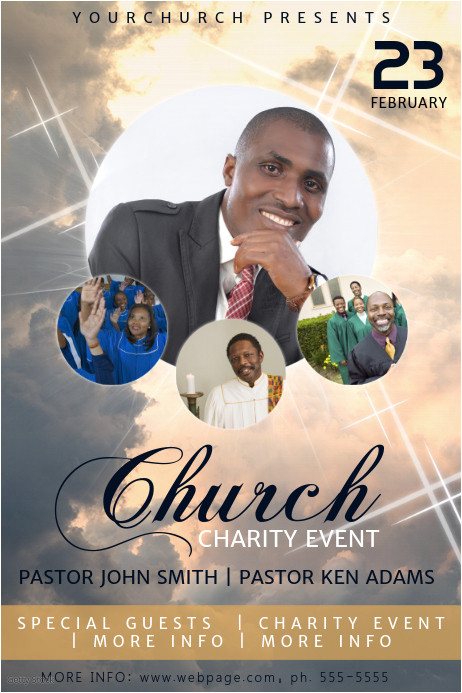 church event flyer template