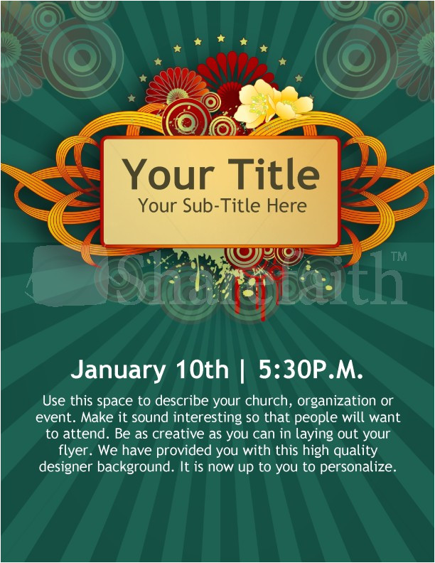 new year church event flyer templates