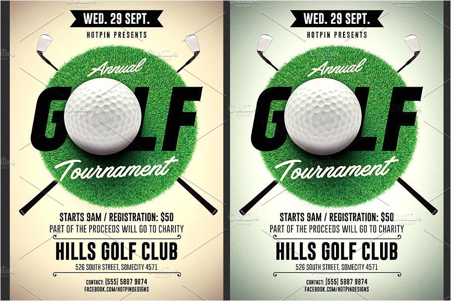 1692295 golf tournament flyer template