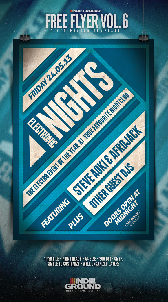 free flyer template vol 6