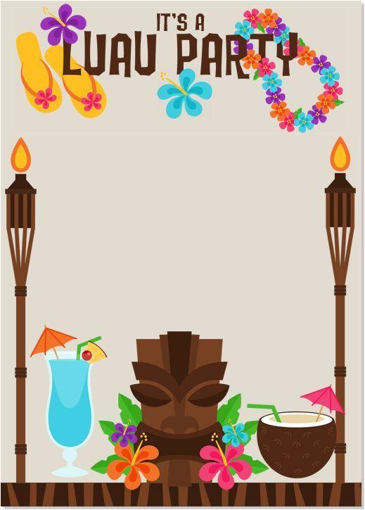 Free Hawaiian Luau Flyer Template Image Result for Luau Invitations Templates Free