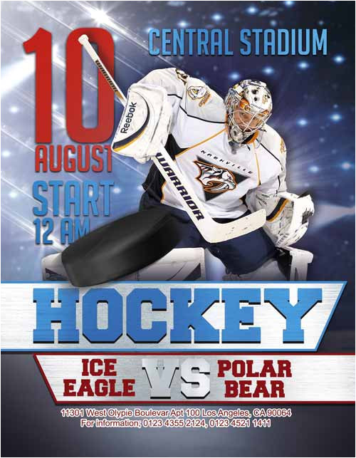 free ice hockey flyer template
