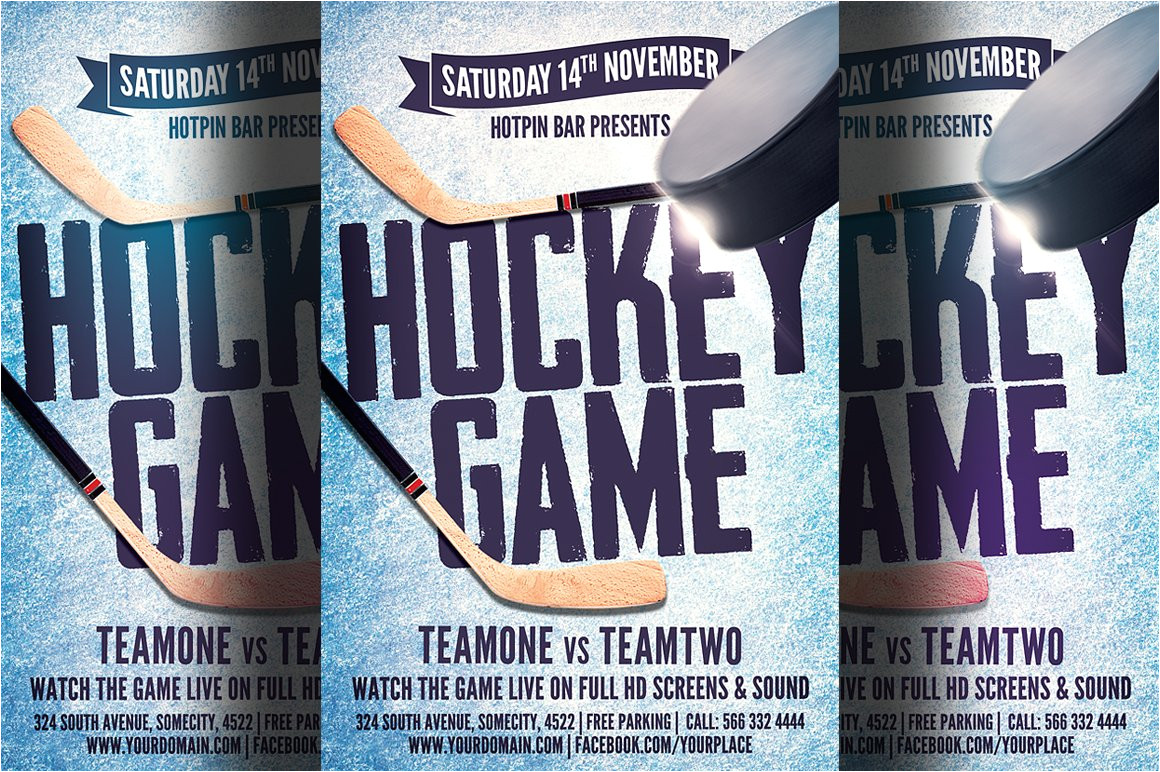 1006473 hockey game flyer template