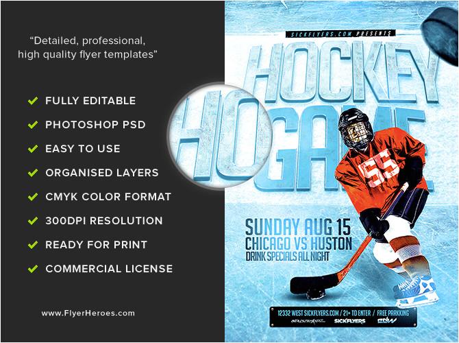 Free Hockey Flyer Template Ice Hockey Flyer Template Flyerheroes