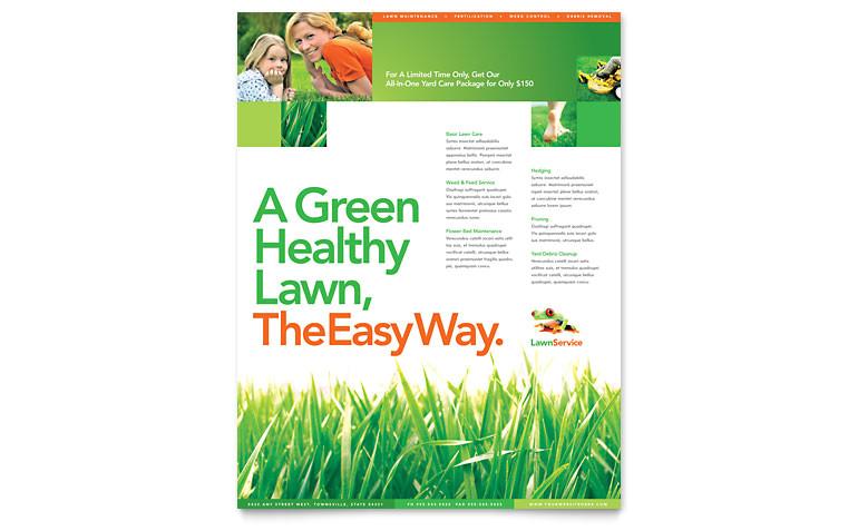 lawn maintenance flyer templates hm0011501d