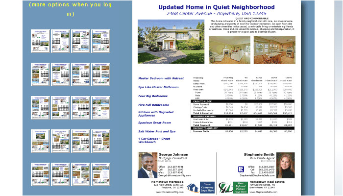 4 mortgage flyers templates