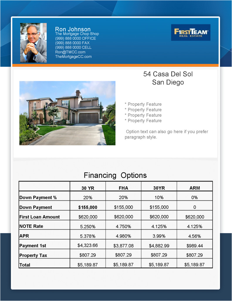 new flyer concept mortgage real estate flyer
