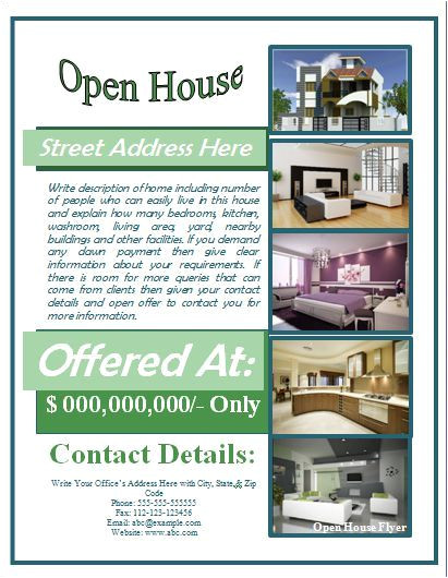 Free Mortgage Flyer Templates Open House Flyer Template Free for Mortgage Open House