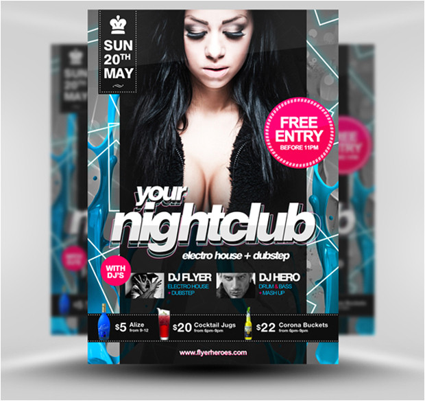 30 amazing free flyer templates from flyerheroes com extras