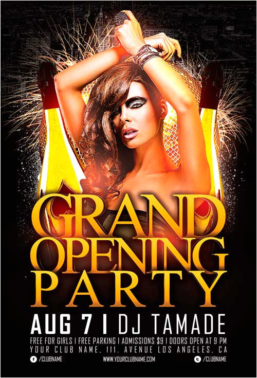 grand opening party flyer template vol 2
