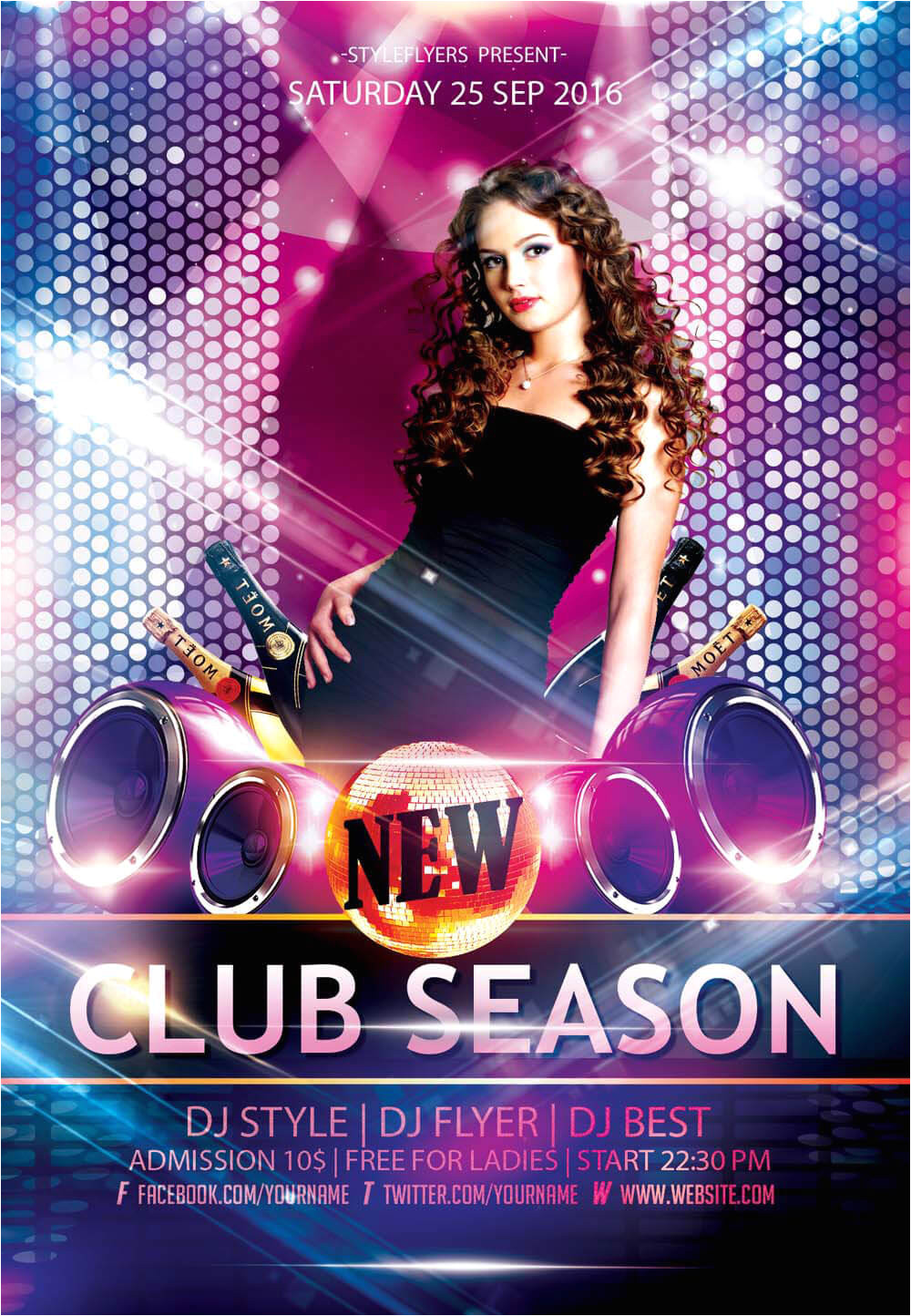 new party season free psd flyer templates