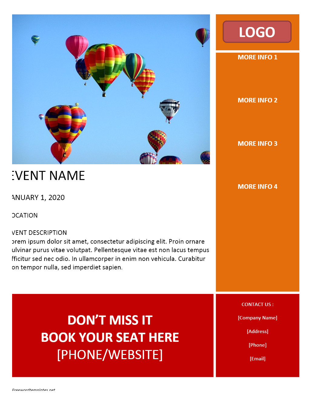 Free Online Flyer Templates for Word event Flyer Template