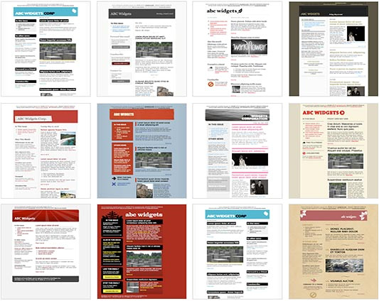 Free Online Newsletter Templates for Email 100 Free HTML Email Newsletter Templates Patternhead