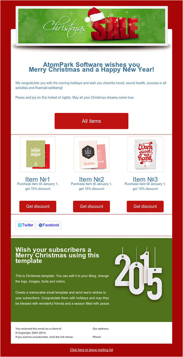 Free Online Newsletter Templates for Email 38 Christmas Email Newsletter Templates Free Psd Eps