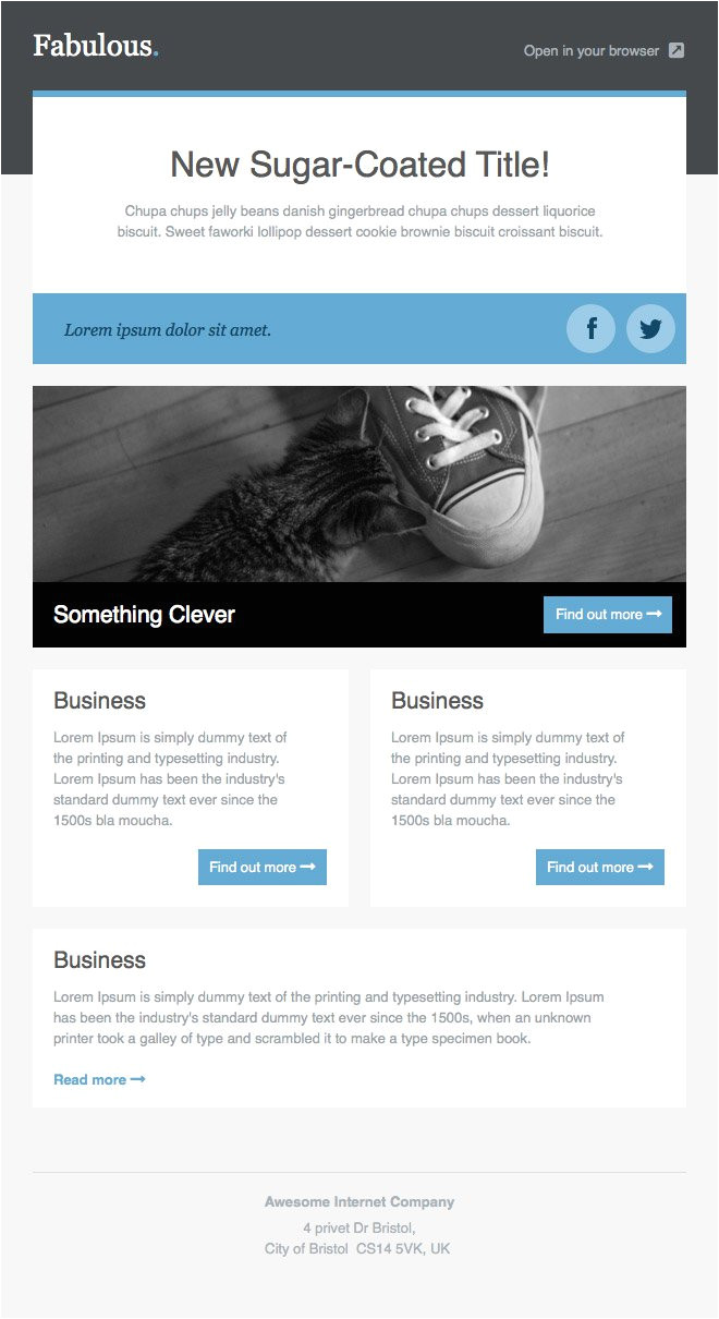 Free Online Newsletter Templates for Email Newsletter Templates Free Email Templates Cakemail Com
