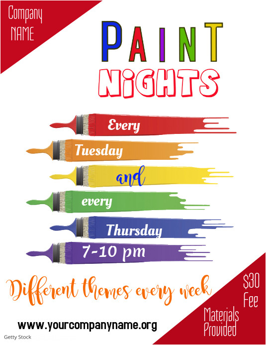 Free Paint Night Flyer Template Paint Night Flyer Template Postermywall