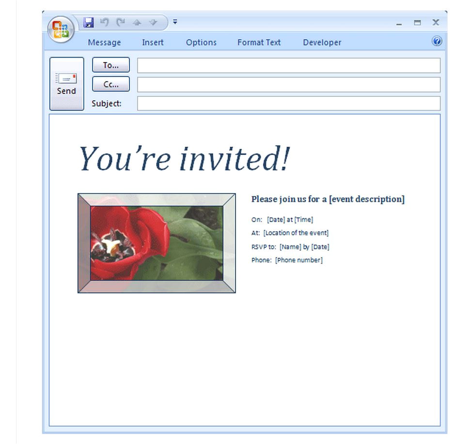 Free Party Invitation Templates to Email Email Party Invitation Template