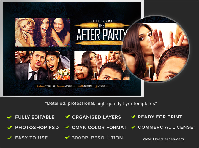 party photobooth flyer template