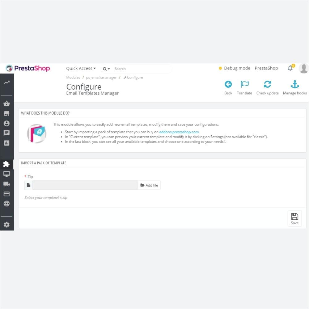 Free Prestashop Email Templates Email Templates Manager Prestashop Addons