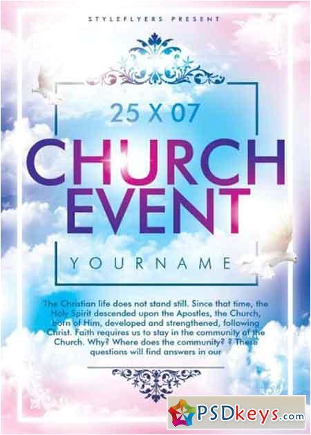 40357 church event psd flyer template