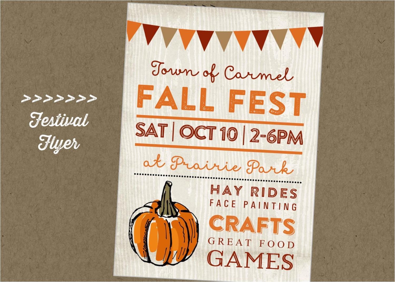 fall fest printable flyer festival craft