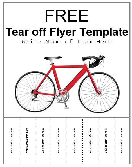 tear off flyer templates