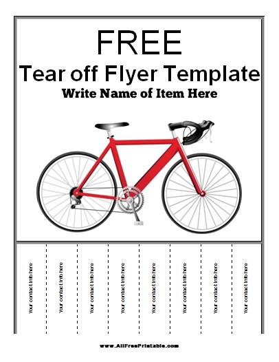 Free Printable Tear Off Flyer Templates Tear Off Flyer Template Free Printable