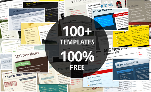 100 free html email templates