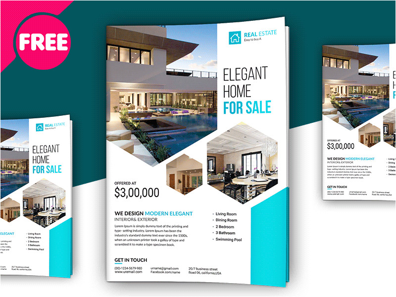 3447634 free psd premium real estate flyer template