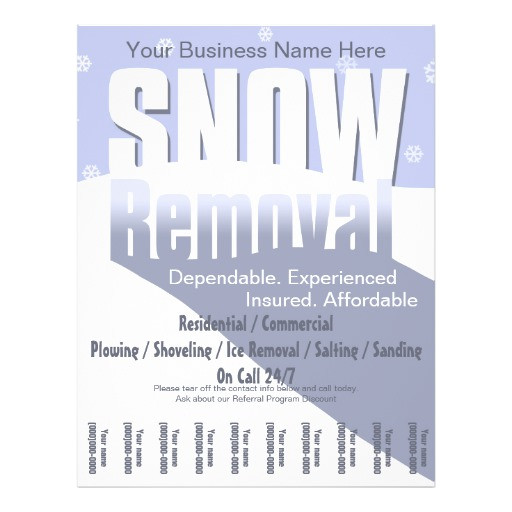 snow plowing service removal business flyer 244715051697146649