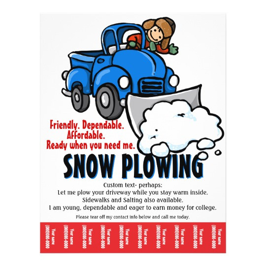 snow plowing service snow removal business flyer 244591009137250542