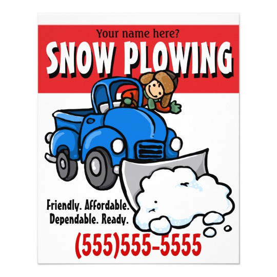 snow plowing snow removal business service flyer 244936877060186980