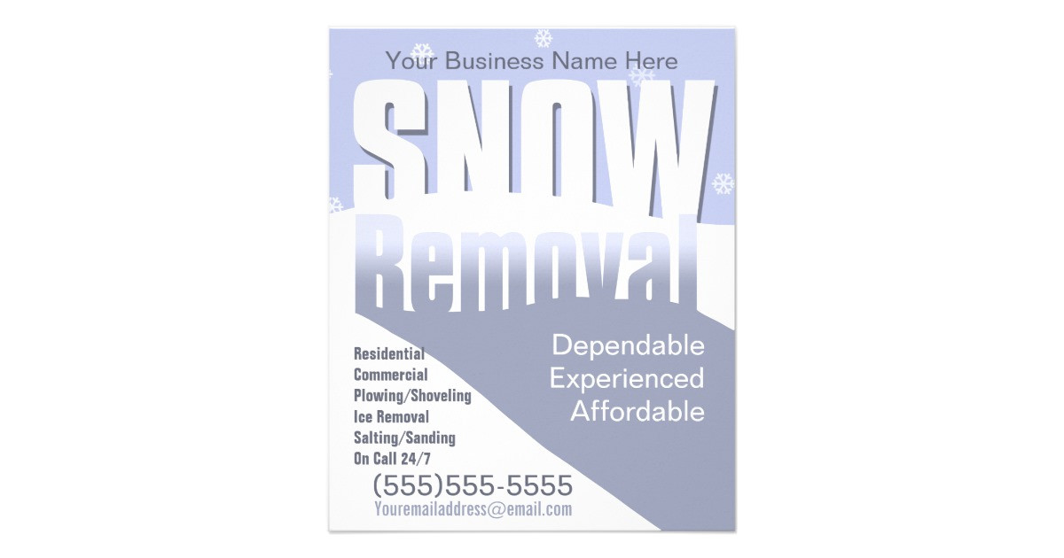 snow removal plowing customizable template flyer design 244747304175880965