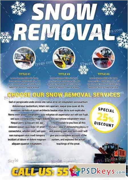 48914 snow removal psd v8 flyer template