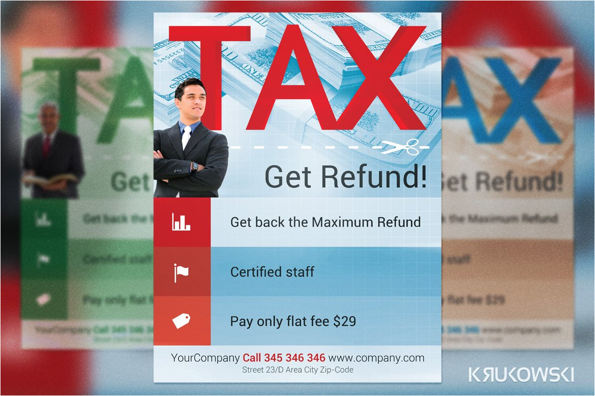 177172 tax refund flyer template