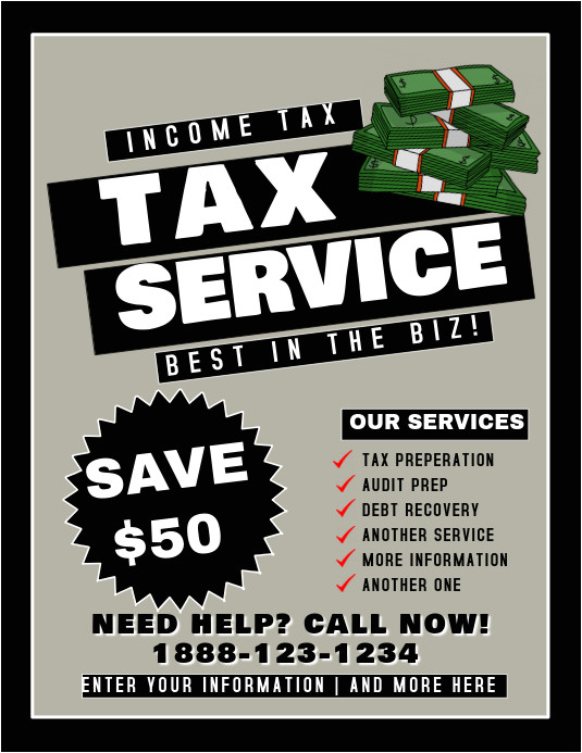 tax service flyer template
