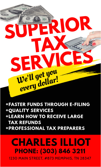 tax services flyer template