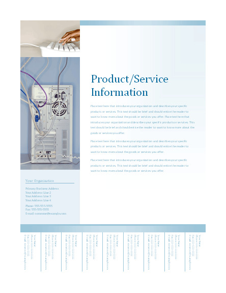 business flyer with tearoff tabs soft blue design 142
